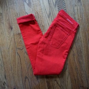 CURRENT/ELLIOTT The Rolled Skinny Caution Red 23